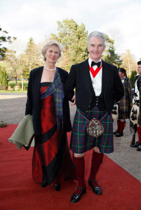 Andrew & Marguerite arriving at Blair Castle